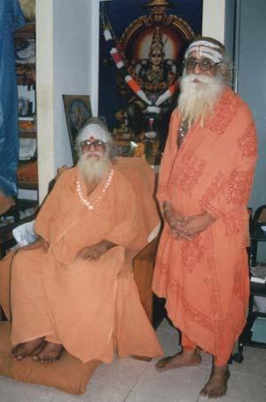 Santananda Saraswati Swamigal with disciple Shankarananda Swami