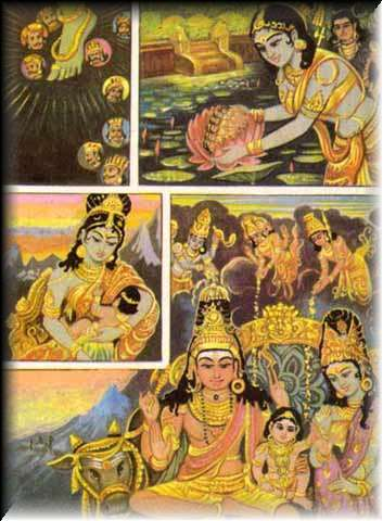 Birth of Karttikeya, son of Siva and Parvati