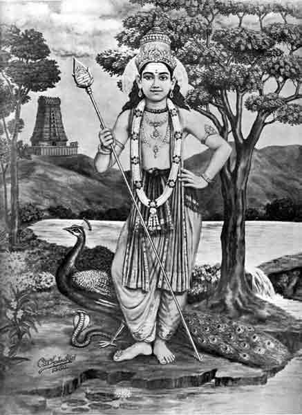 Devotional Lithographs: 1930-1950 / Sri_Murugan