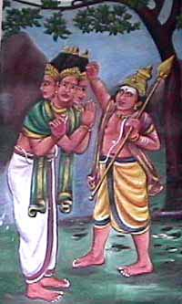 Murugan punishes Brahma for his pride and ignorance