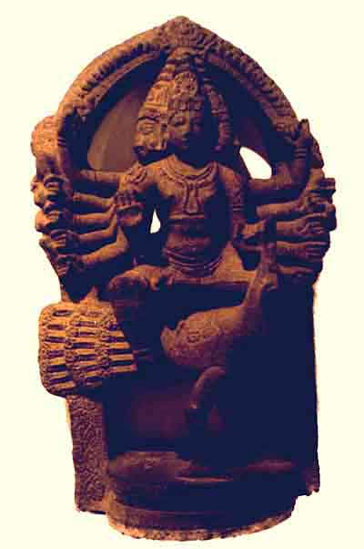 stone icon of Kārttikeya from ancient North India, 7th century AD