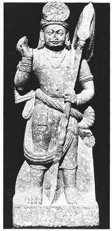 Kushan period (ca. 1-2nd cent AD) statue of Karttikeya (14197 bytes)