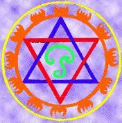 Sadkona Yantra or Hexagram