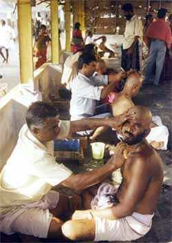 Mudikaani -- offering one's hair to Senthil Andavar