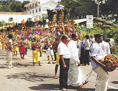 Annual Kavadi procession through Victoria