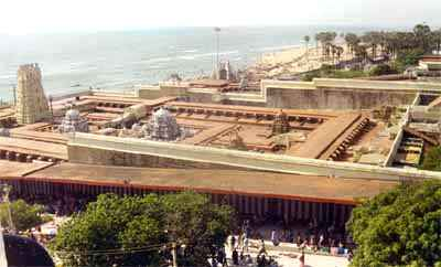 Panoramic view of Tiruchendur seashore temple
