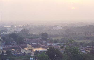 Sunrise from Tiruttani hilltop 1 January 2000
