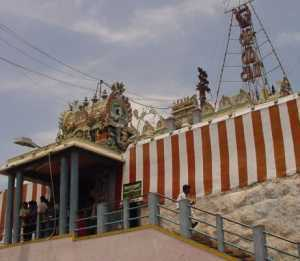 Final steps to Tiruttani temple