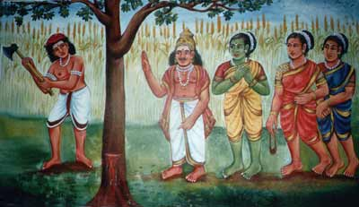 Murugan truns into a venkai tree