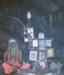 Yogi residing in cave at Viralimalai