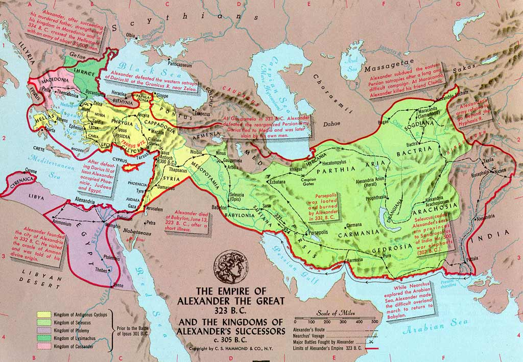 Empire of Alexander the Great - map - Geography pages for ...