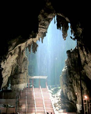 interior of Batu Caves