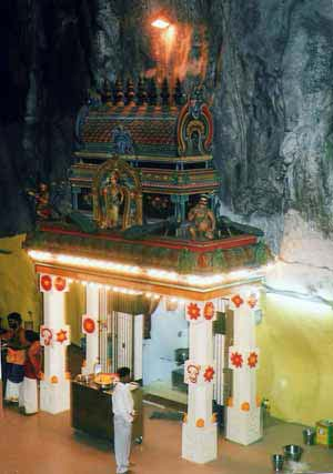Old Subrahmanya shrine in Batu Caves