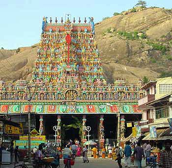 Tirupparankundram gopuram and hill