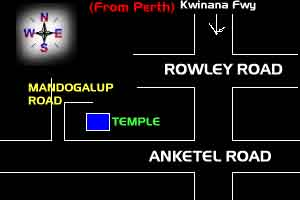Perth Temple map